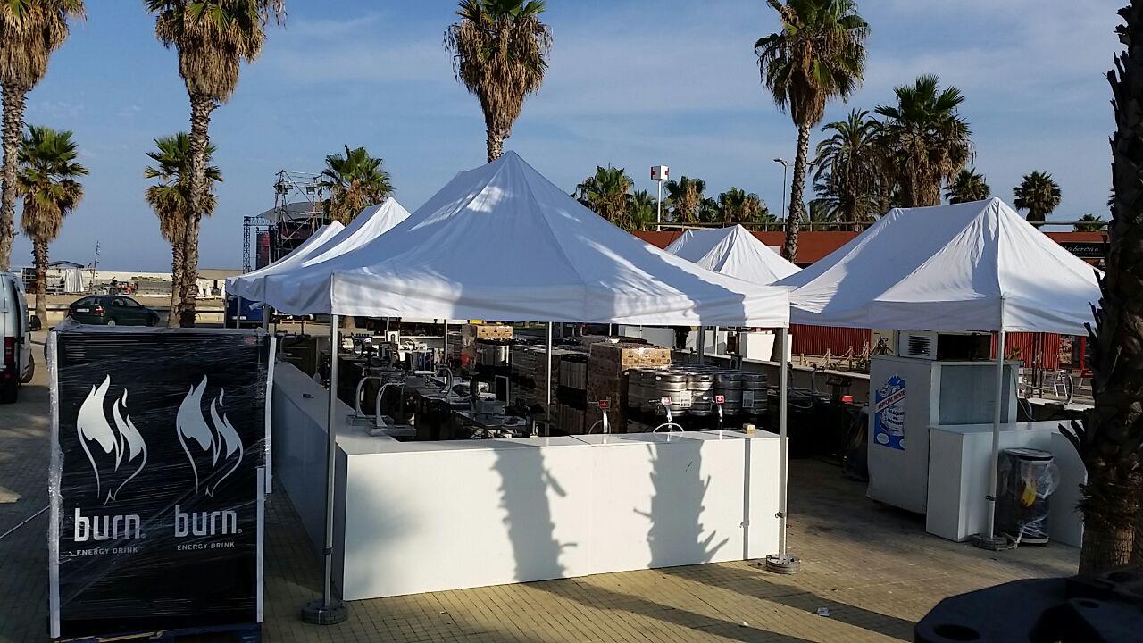 plegable Top tent alquiler evento empresa