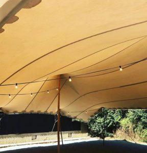 interior boda carpa beduina Top Tent