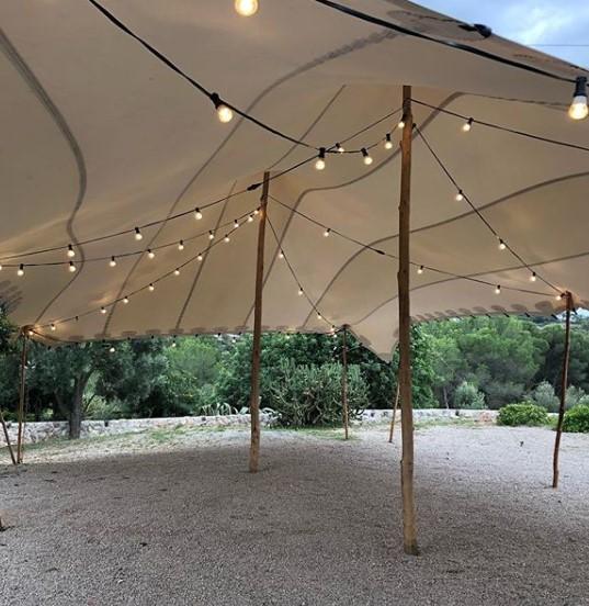 beduinas con iluminación top tent