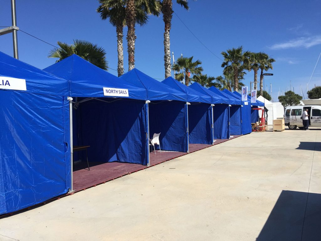 ventajas carpas plegables alquiler Top tent azul