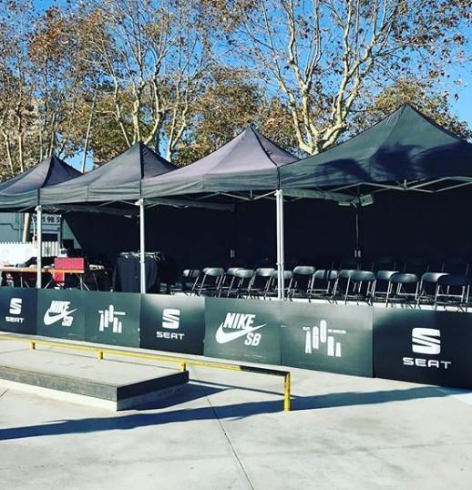 arpas plegables Top Tent evento deportivo