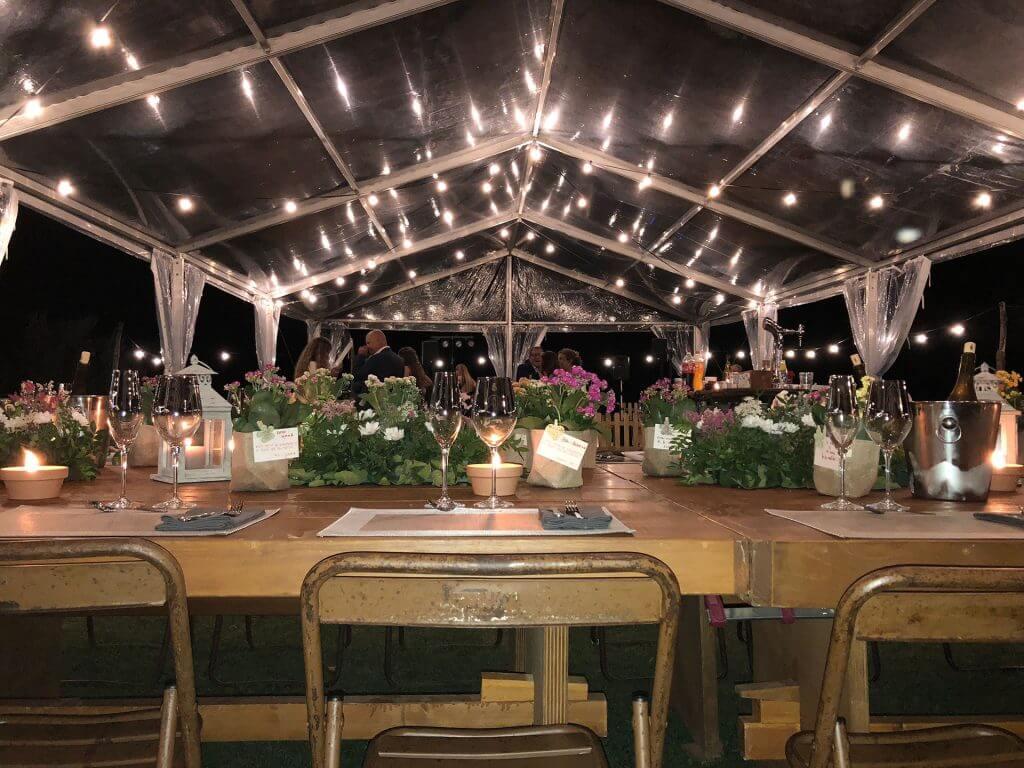 carpa transparente boda Top tent