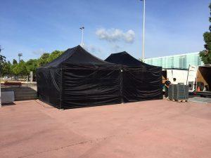 carpas plegables negra Top Tent