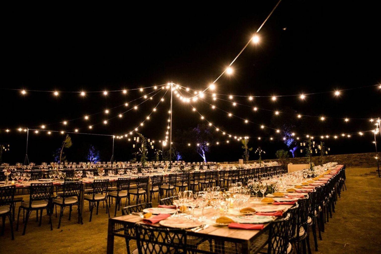Éclairage location Top Tent