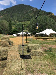 led postes top tent