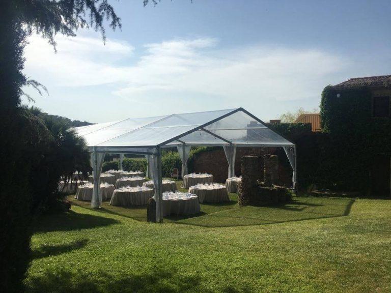 boda carpa transparente top tent